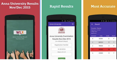 Anna University Result App 2016: WLX Android App to Check your Nov/Dec Results