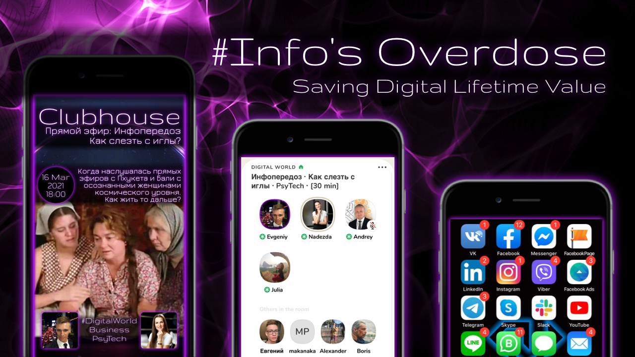 Info's Overdose. Saving Digital Lifetime Value. How to set up and maintain the importance of social networks