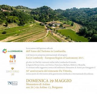 Cena tra le stelle del Gusto 29 maggio Bergamo (Astino) 2016