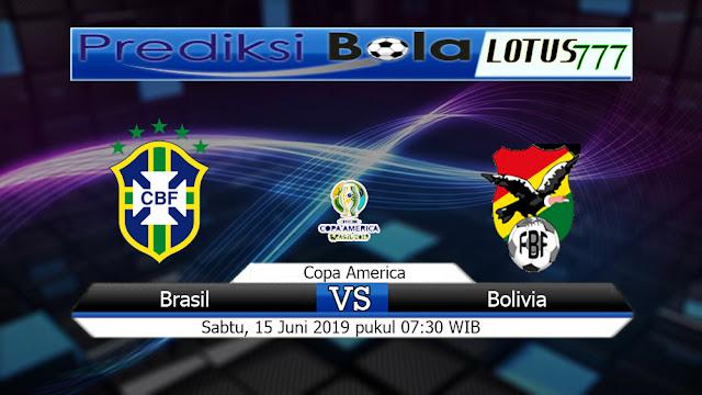 Prediksi Skor Bola Brasil Vs Bolivia  Sabtu15 Juni 2019
