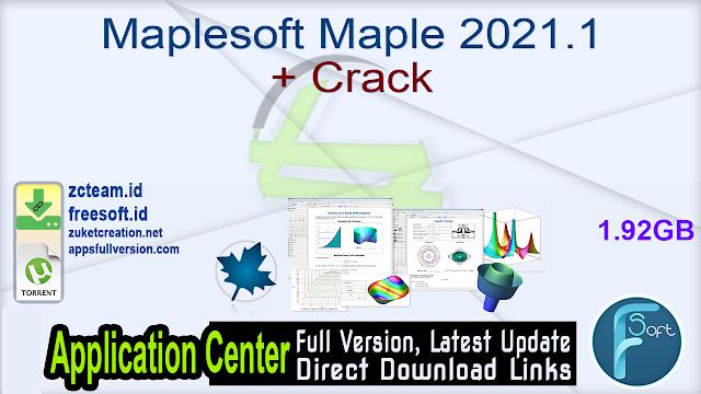 Maplesoft Maple 2021.1 + Crack_ ZcTeam.id