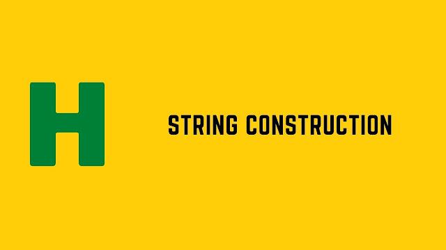 HackerRank String Construction problem solution