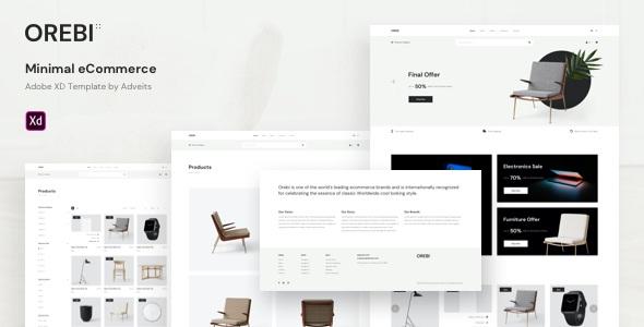 Minimal eCommerce Adobe XD Template