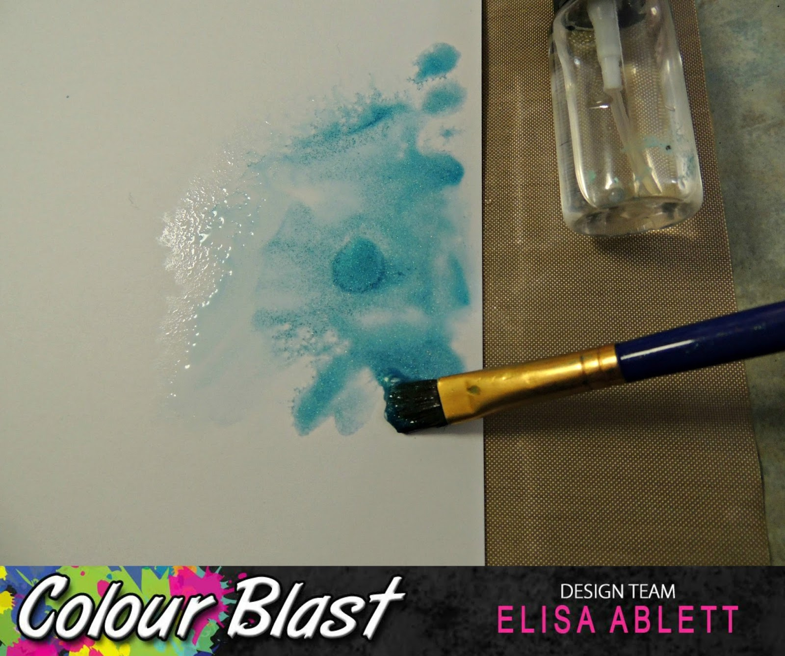 how to run the paint colours together like water