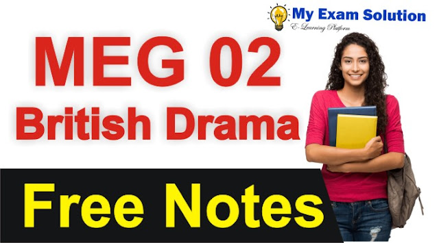british drama, british drama important topics, meg 02, meg 02 british drama syllabus, meg british drama books