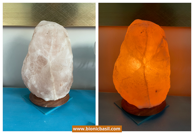 Colouring with Cats #126  ©BionicBasil® Crystal of The Week - BBHQ Salt Crystal Lamp