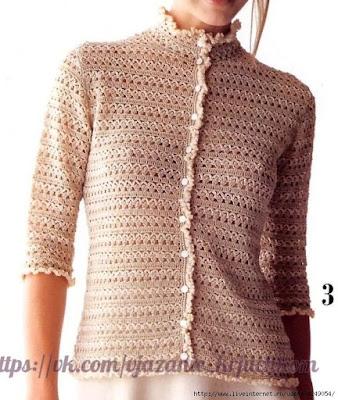 wzór bluzeczki szydełkiem
