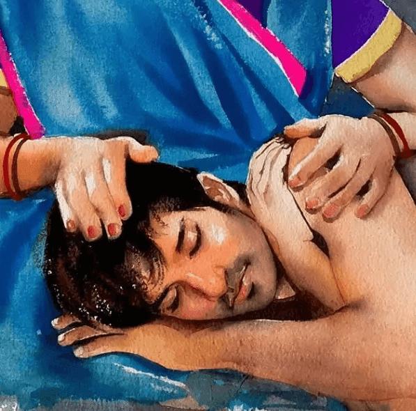 Sushant Singh Rajput को याद कर फैन ने बनाई पेंटिंग, कहा 'जब जीवन बिखरने लगता है तब मां की गोद में शांति मिलती है...'