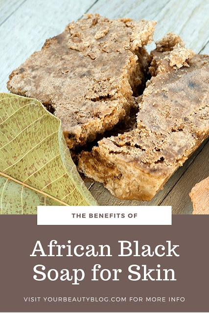 The benefits for African black soap for your skin. Add this soap to your skincare regimen for acne, eczema, psoriasis, and dark spots. Learn directions on how to use this soap for your skin, hair, and as a face wash. It is as a bar, paste, or liquid. Learn more about the ingredients and storage for best results. This is the best natural skincare product for most skin types. Where to buy raw real African black soap. #blacksoap #africanblacksoap