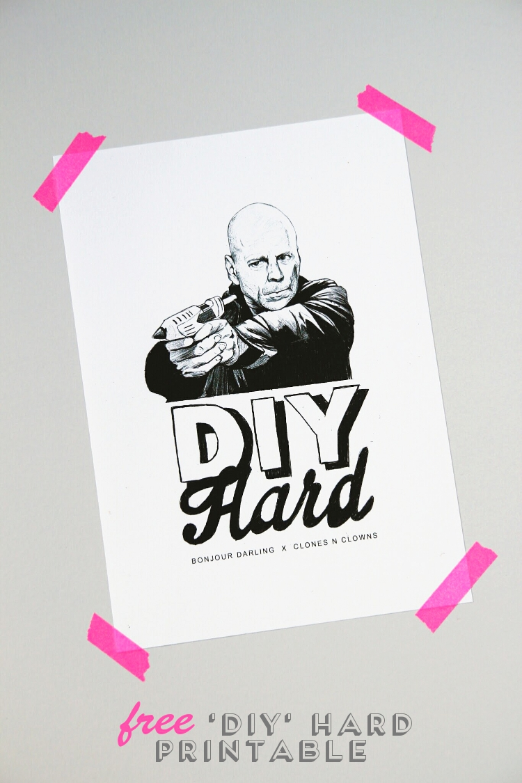 Free 'Diy' Hard Printable Poster.
