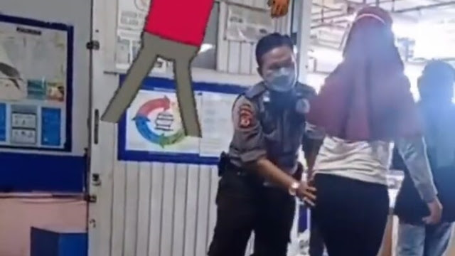 Viral! Pria Berseragam Satpam Check Body Karyawati hingga Sentuh Area Terlarang