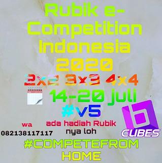 Brosur Rubik e-Competition Indonesia yang kelima
