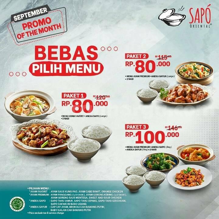 SAPO ORIENTAL Promo OF THE MONTH khusus bulan SEPTEMBER 2021 – Harga Paket mulai Rp. 80.000 2