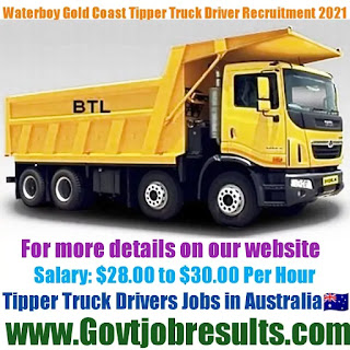 Waterboy Gold Coast Tipper Truck Driver Recruitment 2021-22