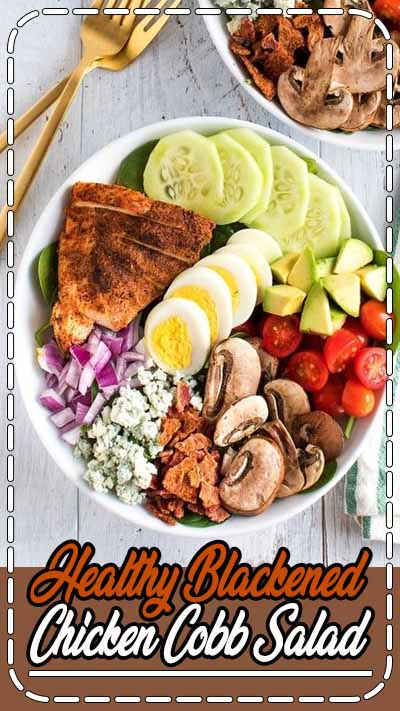 This blackened chicken Cobb salad tops the charts in my book. I love how much flavor is packed in each bite and how simple it is to create. Bonus points: it's a great salad to prep ahead of time! Paleo, grain-free, low-carb and keto-friendly.