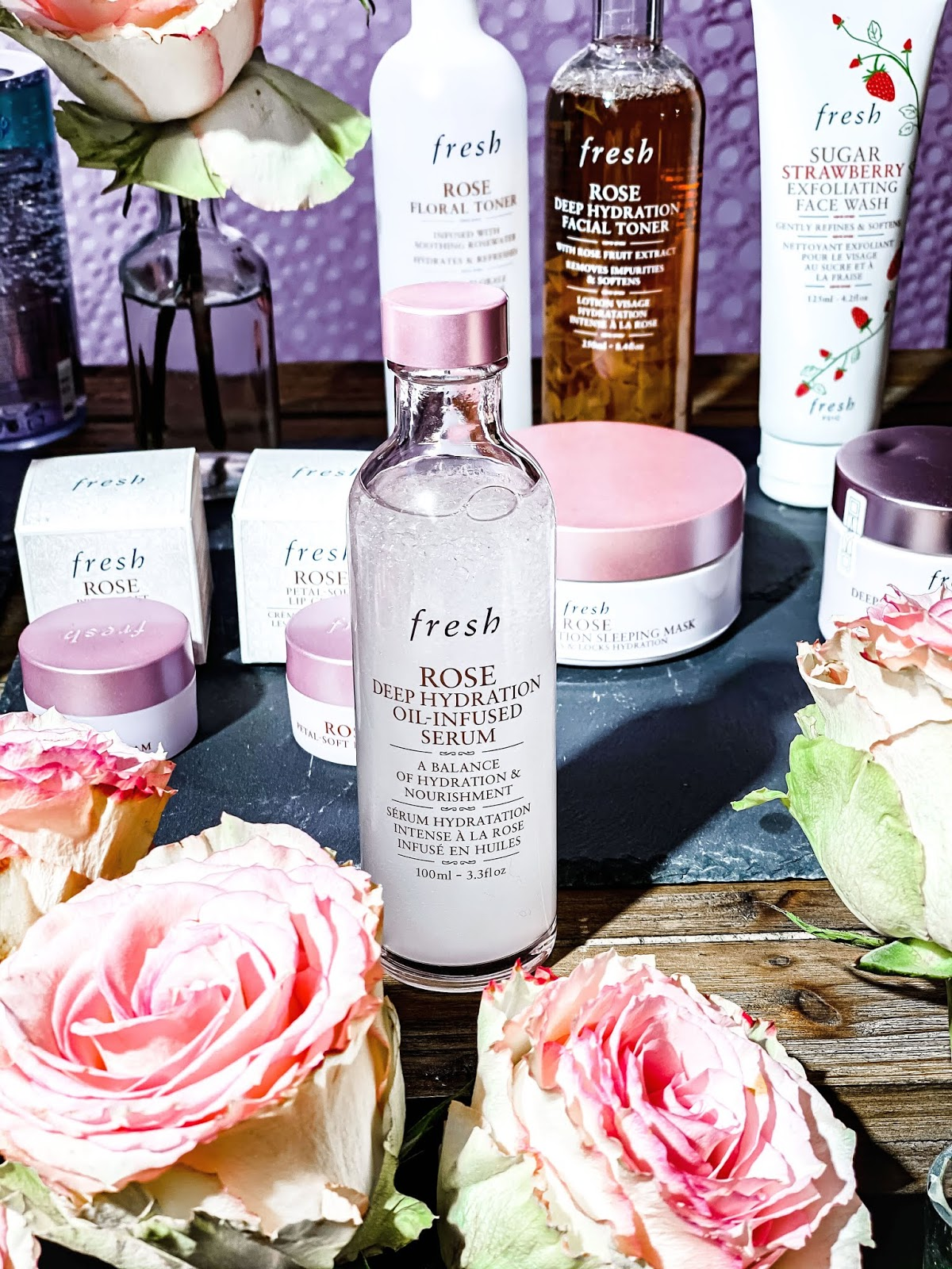 Fresh Rose Serum Hydratant Infusé en Huile