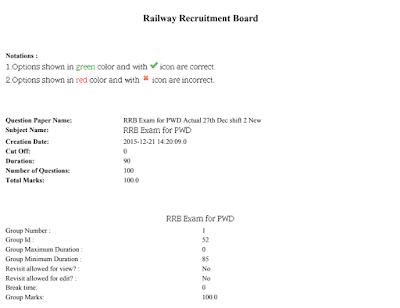 RRB NTPC Paper