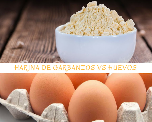 Harina de garbanzos vs Huevos