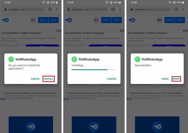 cara instal YOWhatsApp Apk terbaru versi 8.70