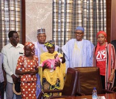 Amina Nkeki Meets president muhammadu buhari