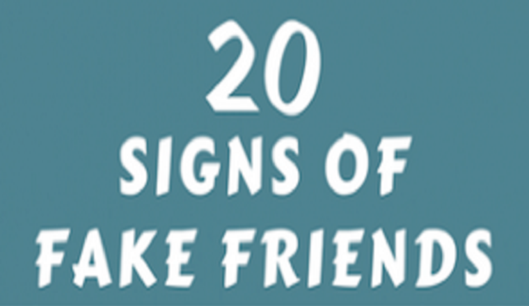 20 Signs Of Fake Friends And How To Deal With Them #infographic