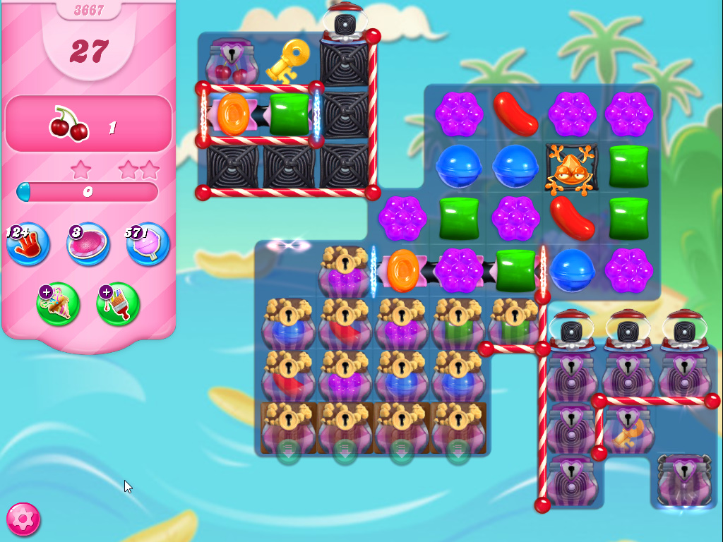 Candy Crush Saga level 3667