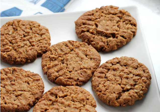 Top ingredients of healthy peanut butter cookies