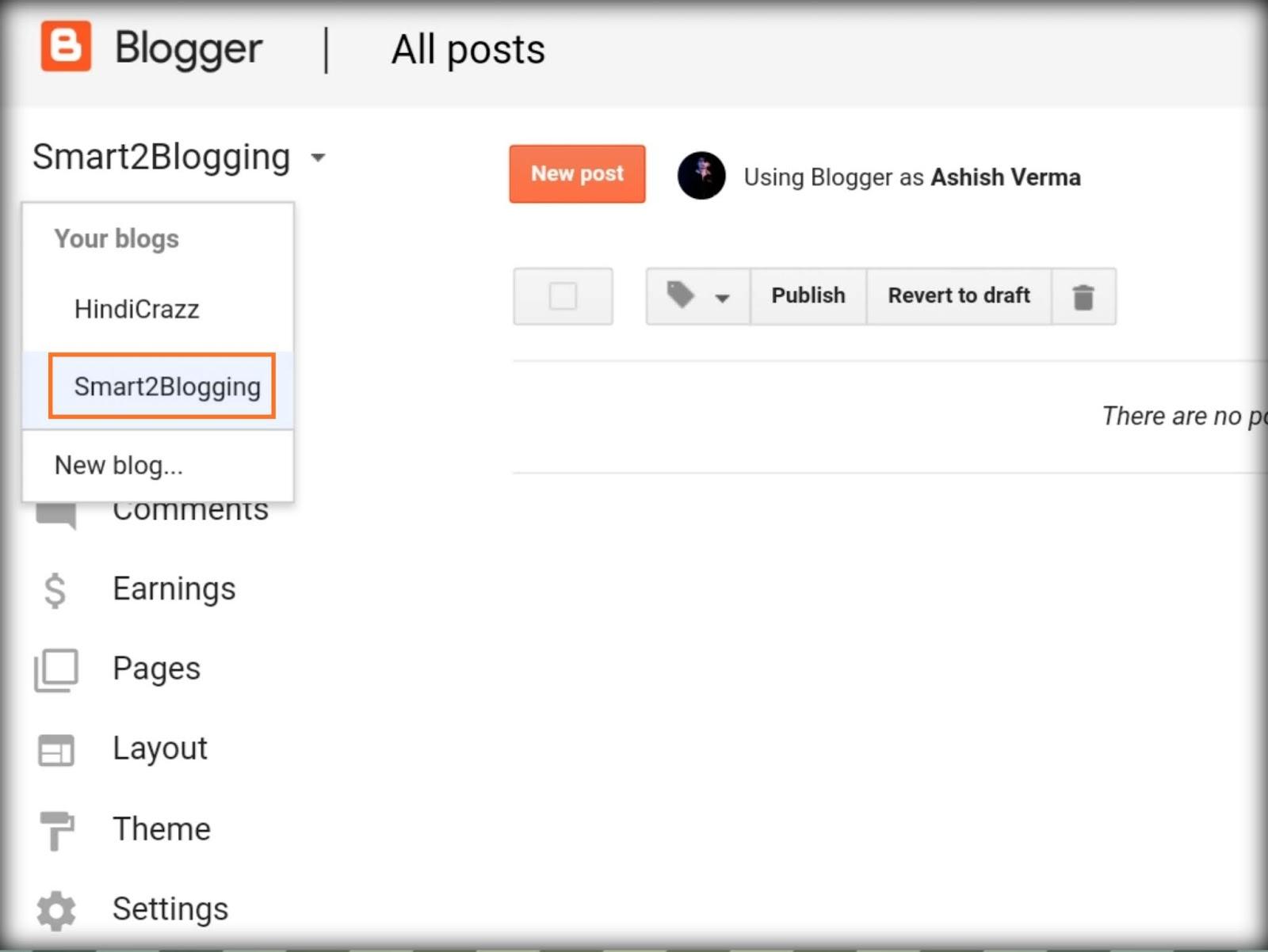 Blogger Blog Delete कैसे करते हैं - HindiCraze