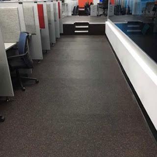 Greatmats rubber flooring rolls in office call center