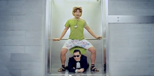 psy gangnam style horse riding dance