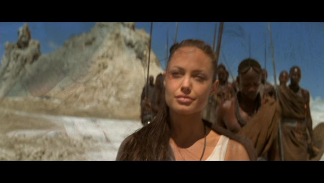 Angelina Jolie in the desert in Lara Croft Tomb Raider: The Cradle of Life movieloversreviews.filminspector.com