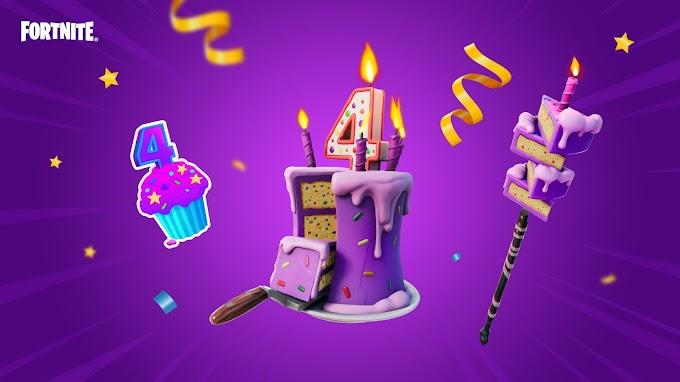 Onde encontrar bolos e presentes de aniversário em Fortnite