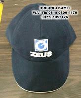 Topi Promosi Bahan Laken, souvenir topi laken, Konveksi Topi bahan laken