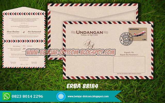 Blanko Undangan ERBA 88184 Model Amplop Harga Murah Free Download