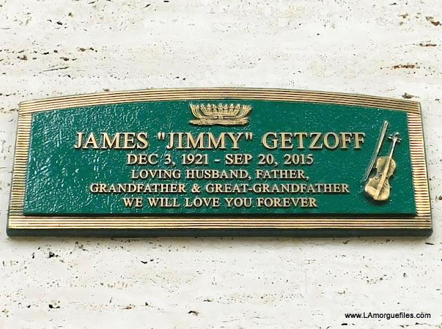 L.A. Philharmonic & Studio Violinist Jimmy Getzoff 2015 Hillside Cemetery