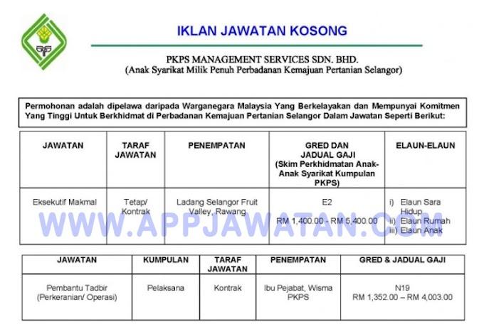 Jawatan Kosong Terkini di Perbadanan Kemajuan Pertanian Selangor