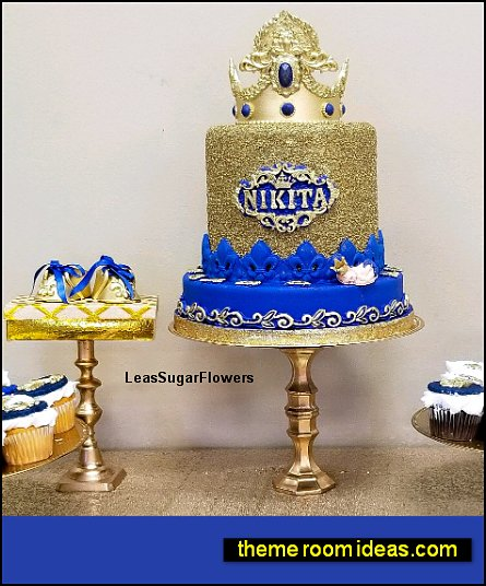 Baby Prince Set with Colored Jewels for Royal Prince Party Cake little prince party decorations