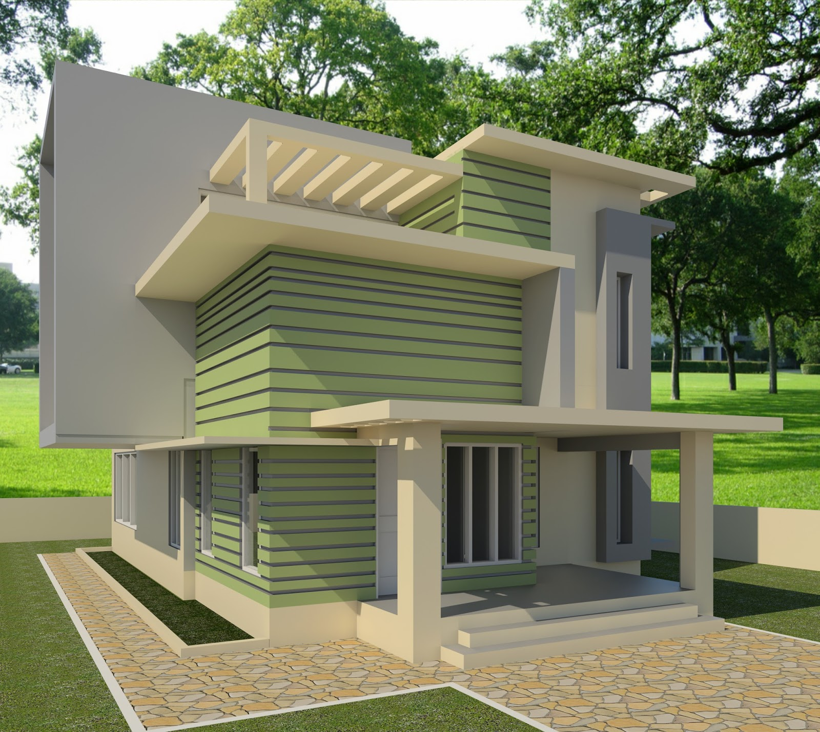 Revit architecture modern house design 7 cad needs for Revit architecture modern house design 1