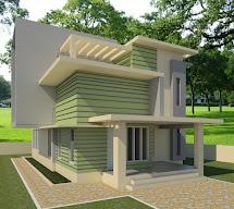 Revit Architecture Modern House Design #7 - Cad