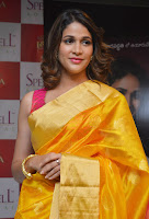 Lavanya Tripathi Gorgeous in Saree Photos at Tripura Herbal Launch TollywoodBlog