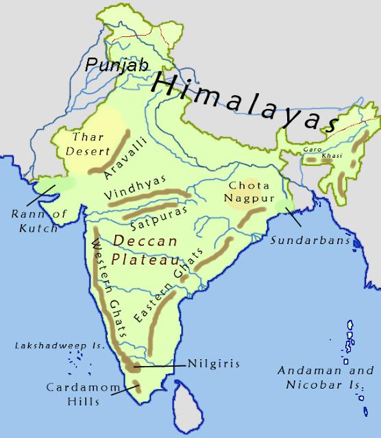 Vindhya and Satpuras