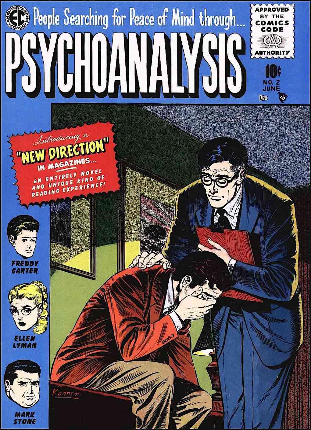 """Psychoanalysis""  a comic book for EC Comics by Jack Kamen"