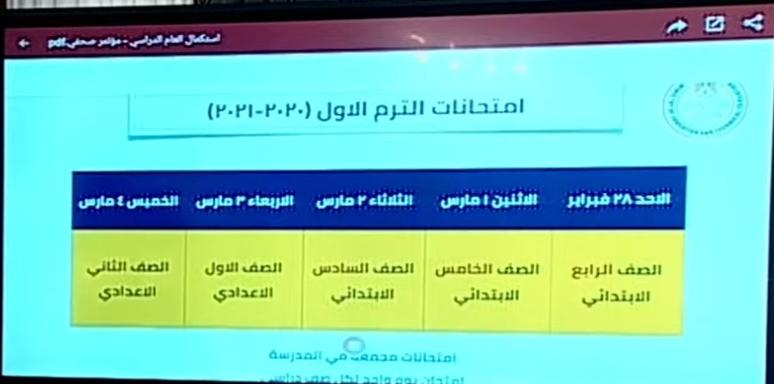 وزير التعليم امتحان واحد للشهادة الاعدادية وامتحان مجمع لصفوف النقل