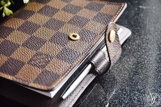 louis vuitton brown agenda cover