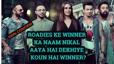 Officially announced Mtv Roadies x6 winner