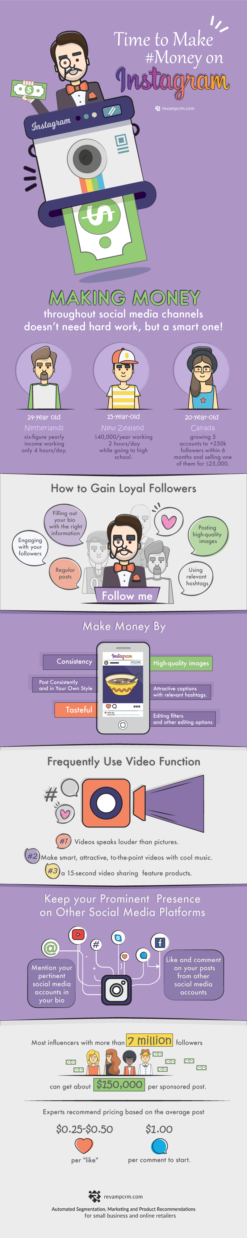 How to Make Money on Instagram - #infographic