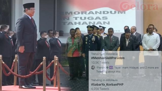 Prabowo Jadi Menteri Jokowi, Terbit Tagar #MenhanSkillPresiden