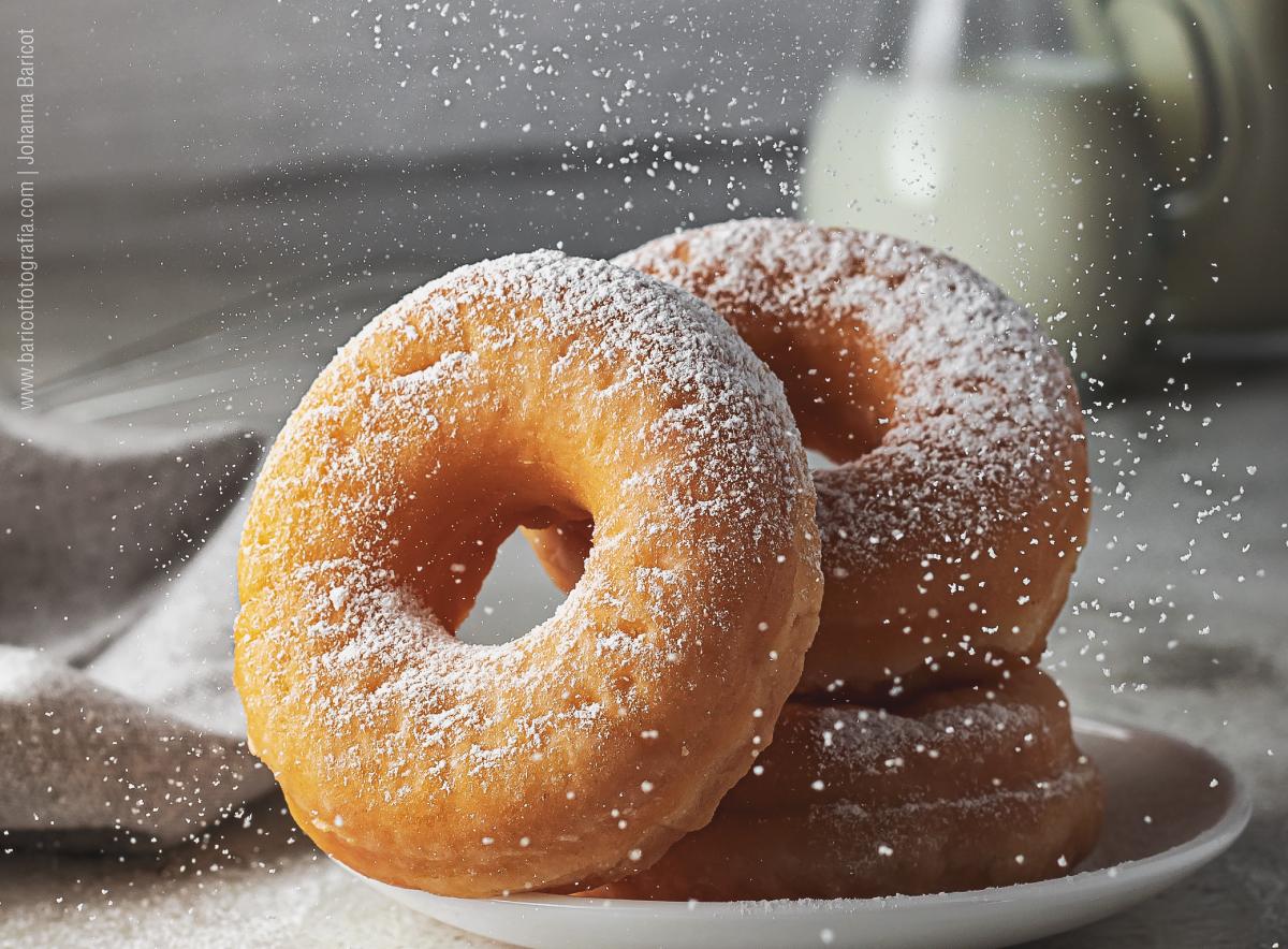 Donas/Berlinas con azúcar | Fotografía de alimentos