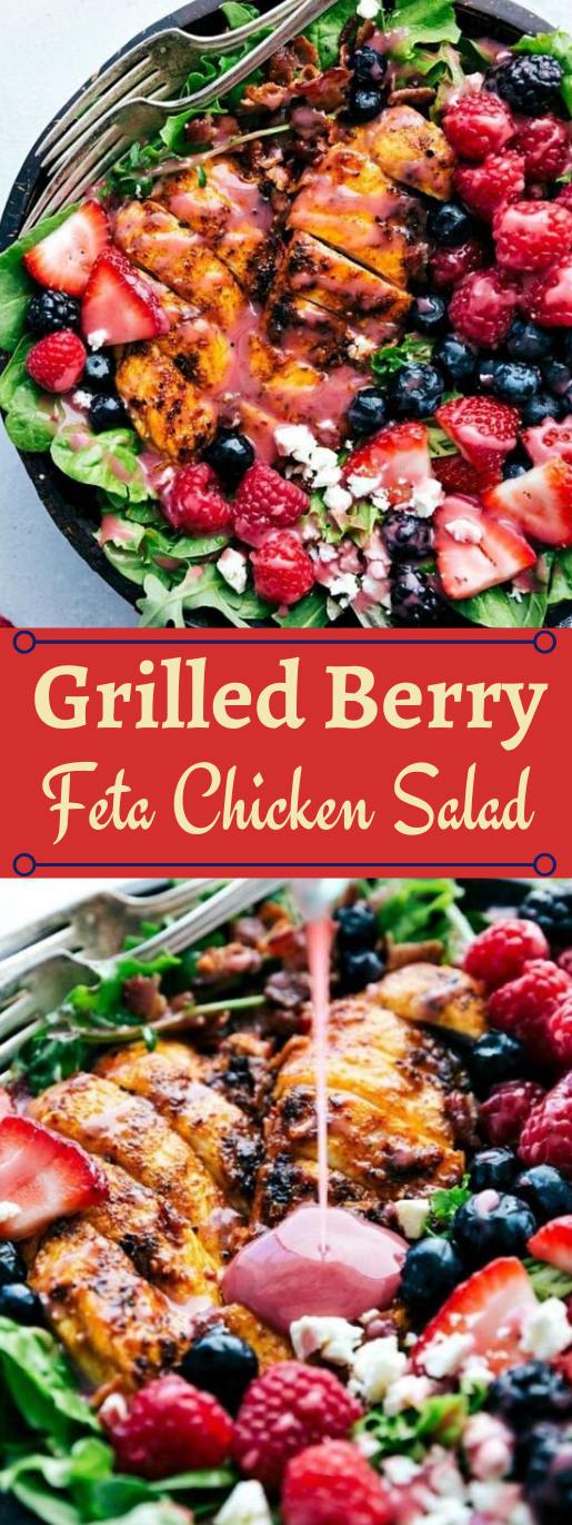 GRILLED BERRY FETA CHICKEN SALAD WITH A SWEET CHIPOTLE DRESSING #appetizers #snacks #creamcheese #salad #lunch
