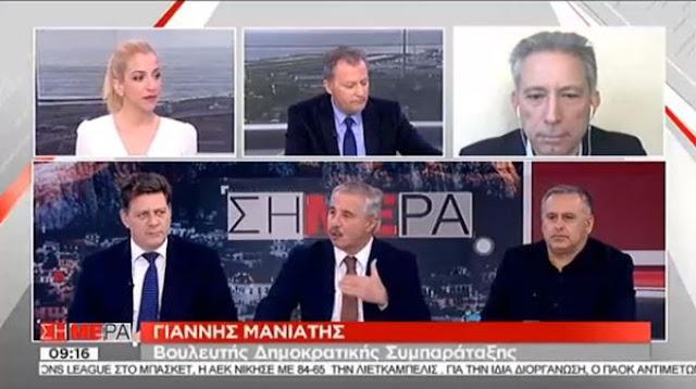 """Γ. Μανιάτης: """"Ο Α. Τσίπρας διχάζει την κοινωνία και τους πολίτες"""""""